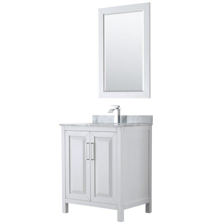 "Daria 30"" Single Bathroom Vanity by Wyndham Collection - White WC-2525-30-SGL-VAN-WHT"