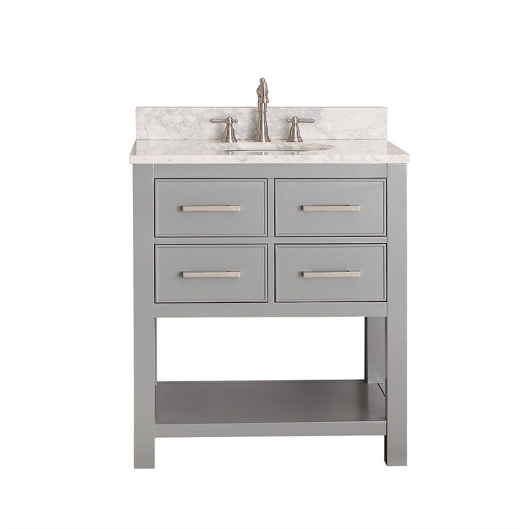 "Avanity Brooks 30"" Single Bathroom Vanity with Countertop - Chilled Gray BROOKS-30-CG"