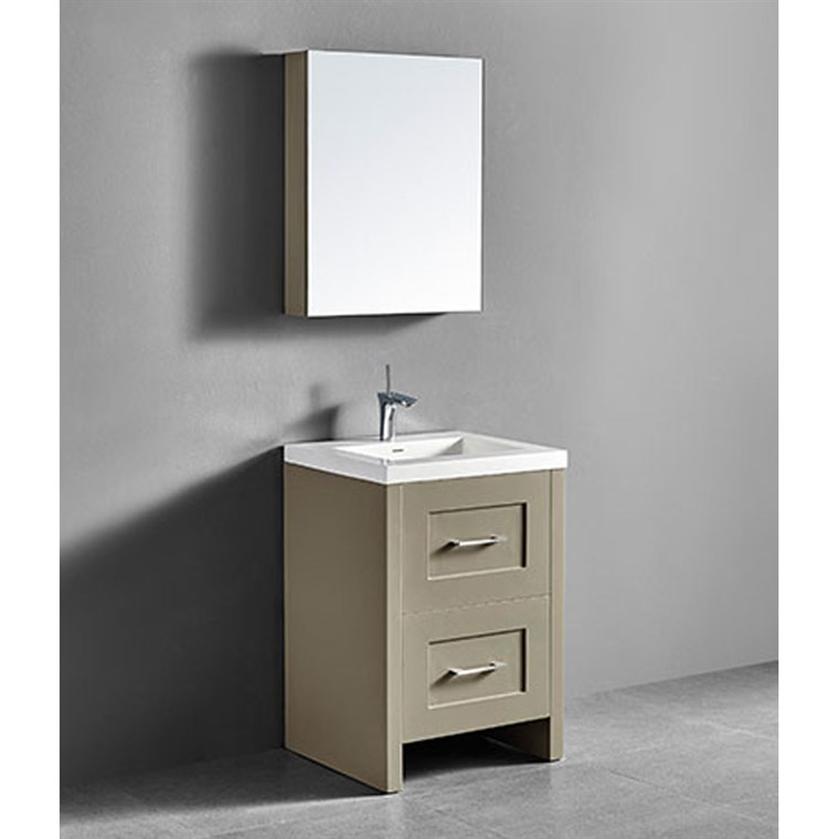 "Madeli Retro 24"" Bathroom Vanity for Integrated Basin - Cashmere B700-24-001-CM"