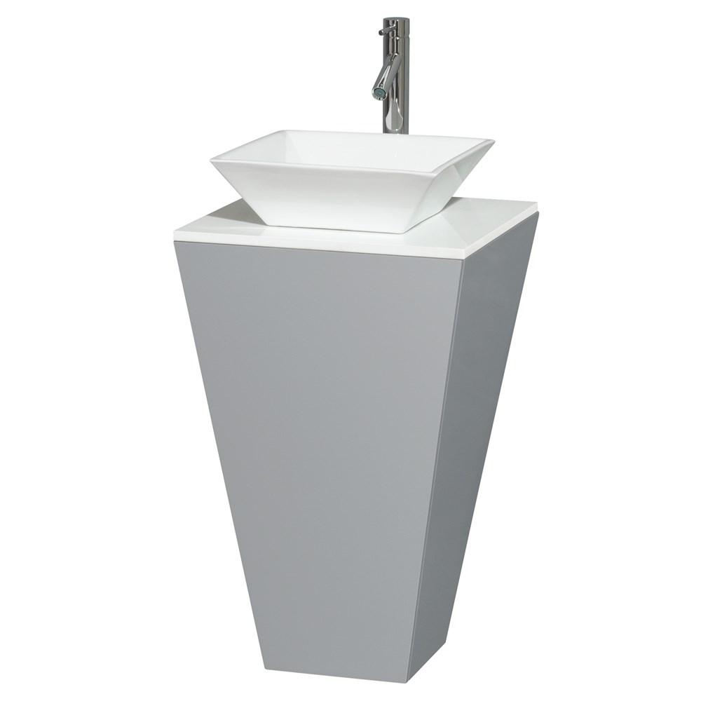 Esprit Bathroom Pedestal Vanity Set by Wyndham Collection - Graynohtin