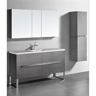 "Madeli Soho 60"" Single Bathroom Vanity for Integrated Basin - Ash Grey B400-60C-001-AG"