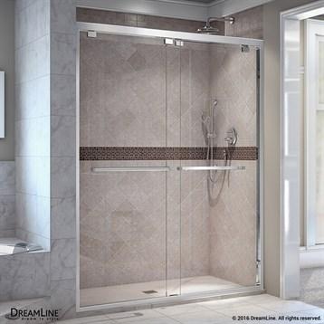 Bath Authority DreamLine Encore 44, 48 in. W x 76 in. H Bypass Sliding Shower Door SHDR-1648760 by Bath Authority DreamLine