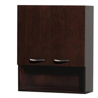 Maria Bathroom Wall Cabinet by Wyndham Collection - Espresso WC-B807-WC-ESP
