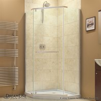 "Bath Authority DreamLine Prism Frameless Pivot Shower Enclosure (38-1/8"") SHEN-2138380"