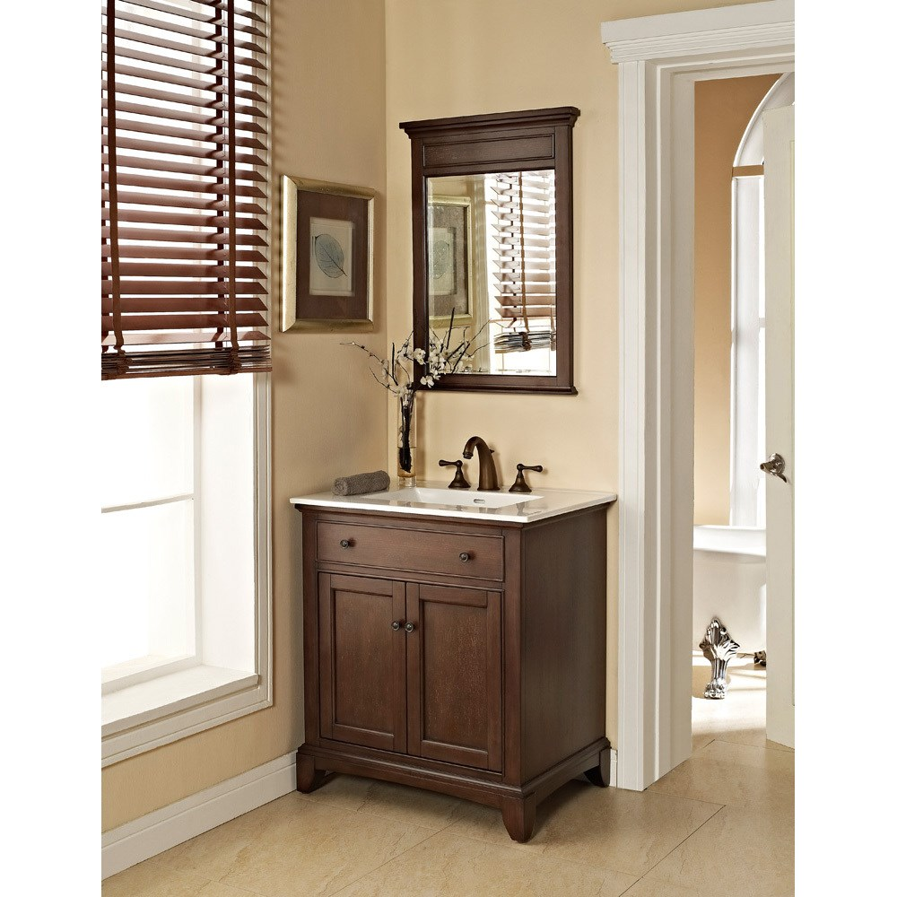 "Fairmont Designs 30"" Smithfield Vanity with Integrated Sink Option - Minknohtin"