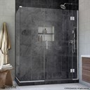 Bath Authority DreamLine UniDoor-X 35-1/2 in. W x 30-3/8 - 34-3/8 in. D x 72 in. H Hinged Shower Enclosure E12306530