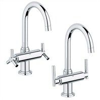 Grohe Atrio High Spout Lavatory Centerset - Starlight Chrome