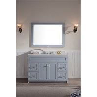 "Ariel Hamlet 49"" Single Sink Vanity Set with White Quartz Countertop in Grey F049S-WQ-GRY"