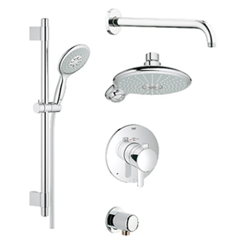 Grohe Europlus Grohflex Bath and Shower Set with Thermostat Valve - Starlight Chromenohtin Sale $854.99 SKU: GRO 35052000 :