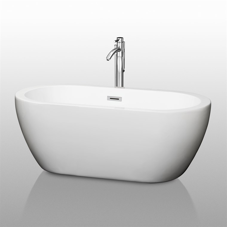 "Soho 60"" Soaking Bathtub by Wyndham Collection - White WC-BTM1002-60"
