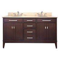 "Avanity Madison 60"" Double Bathroom Vanity - Light Espresso AVA6027-60-LESP"
