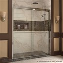 "Bath Authority DreamLine Duet Frameless Bypass Sliding Shower Door and SlimLine Single Threshold Shower Base (30"" by 60"") DL-6950"