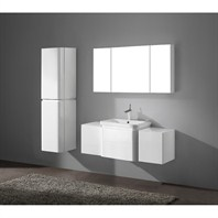 "Madeli Euro 48"" Bathroom Vanity with Integrated Basin - Glossy White Euro-48-GW"