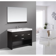 "Design Element Citrus 48"" Single Sink Bathroom Vanity Set - Espresso DEC074S"