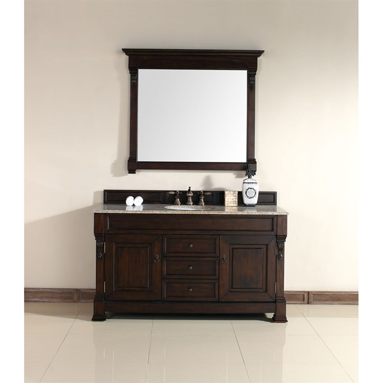 "James Martin 60"" Brookfield Single Cabinet Vanity - Burnished Mahogany 147-114-5361"