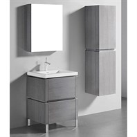 "Madeli Metro 24"" Bathroom Vanity for Integrated Basin - Ash Grey B600-24-001-AG"