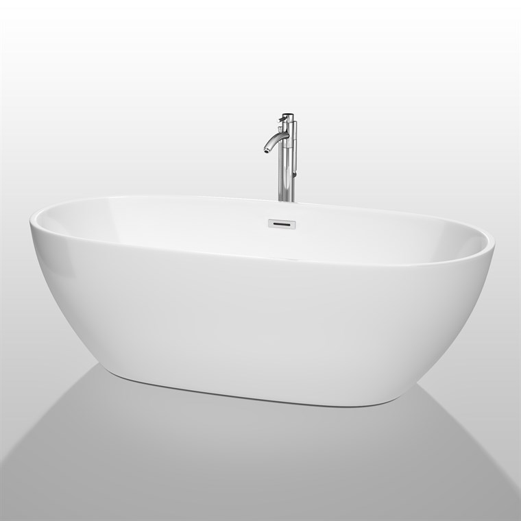 "Juno 71"" Soaking Bathtub by Wyndham Collection - White WC-BTK1561-71"