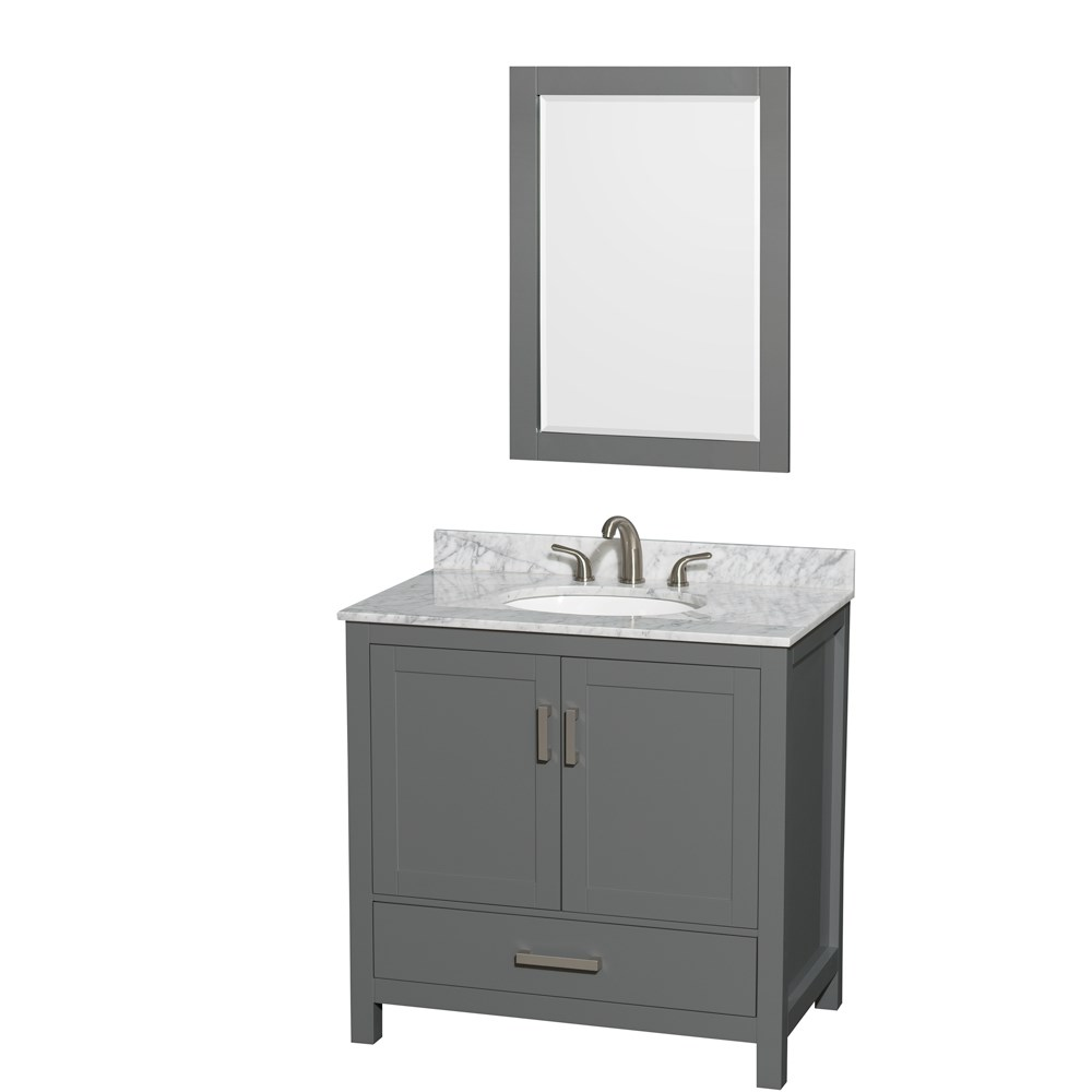 "Sheffield 36"" Single Bathroom Vanity by Wyndham Collection - Dark Gray WC-1414-36-SGL-VAN-DKG"