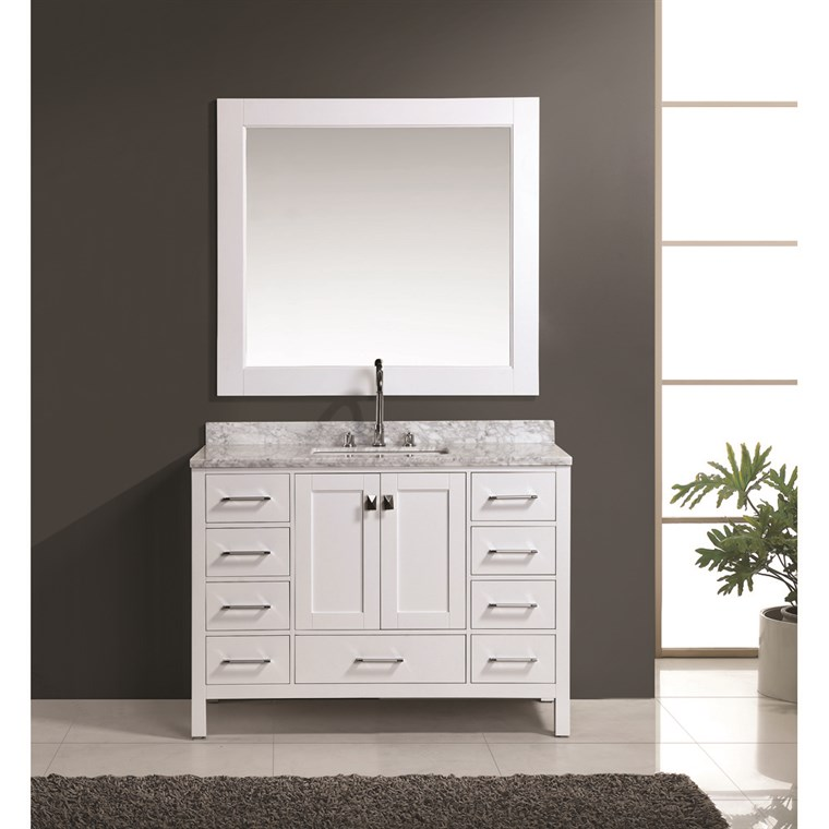 "Design Element London 48"" Vanity Set - White DEC082C-W"
