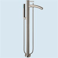 Taron Floor-Mounted Bathtub Faucet by Wyndham Collection - Brushed Nickel WC-AT102340P11-BN