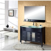 "Virtu USA Ava 48"" Single Sink Bathroom Vanity - Espresso MS-509-G-ES"