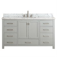 "Avanity Modero 60"" Single Bathroom Vanity - Chilled Gray MODERO-60-CG-A"