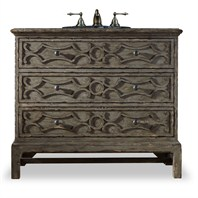 "Cole & Co. 40"" Designer Series Collection Morrison Sink Chest - Antique Pewter 11.22.275540.40"