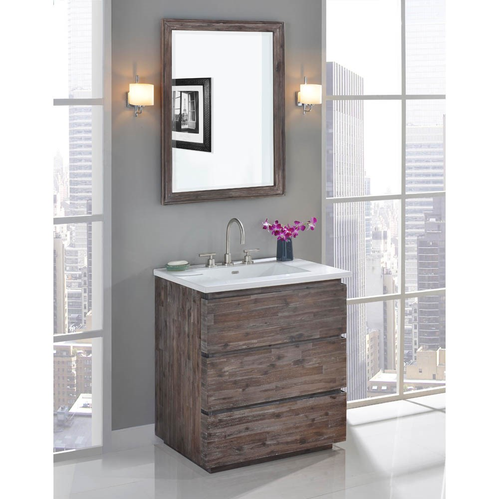 "Fairmont Designs Acacia 30"" Vanity for Integrated Top - Organic Brownnohtin Sale $1015.00 SKU: 1522-V30- :"