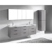 "Madeli Bolano 72"" Double Bathroom Vanity for Quartzstone Top - Ash Grey B100-72-002-AG-QUARTZ"