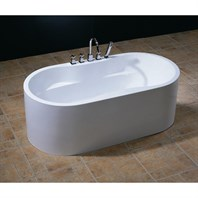 Aquatica PureScape 309 Freestanding Acrylic Bathtub - White Multiple Sizes Aquatica PureScape 309