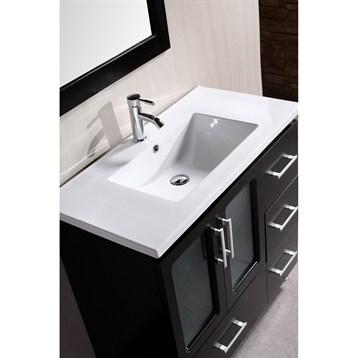 Design element stanton 36 bathroom vanity espresso for Design element marcos solid wood double sink bathroom vanity