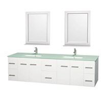 "Centra 80"" Double Bathroom Vanity for Undermount Sinks by Wyndham Collection - White WC-WHE009-80-DBL-VAN-WHT-"