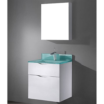 """Madeli Bolano 24"""" Bathroom Vanity for Integrated Basin, Glossy White B100-24-022-GW by Madeli"""