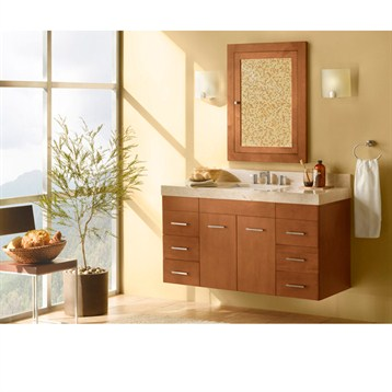 "Ronbow Bella 62"" Double Vanity Undermount, Cinnamon Ronbow 011223-F08-X2-62 by Ronbow"
