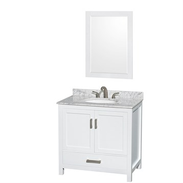 "sheffield 36"" single bathroom vanitywyndham collection - white 36 Bathroom Vanity"