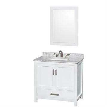 "sheffield 36"" single bathroom vanitywyndham collection - white 36 Bathroom Vanity"