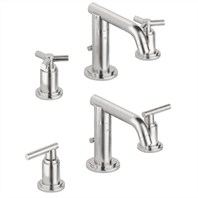 Grohe Atrio Low Spout Lavatory Wideset - Infinity Brushed Nickel