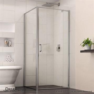 "Bath Authority DreamLine Flex Pivot Shower Door, 28-7/16""-32-7/16"" with Return Panel, Chrome Finish Hardware... by Bath Authority DreamLine"