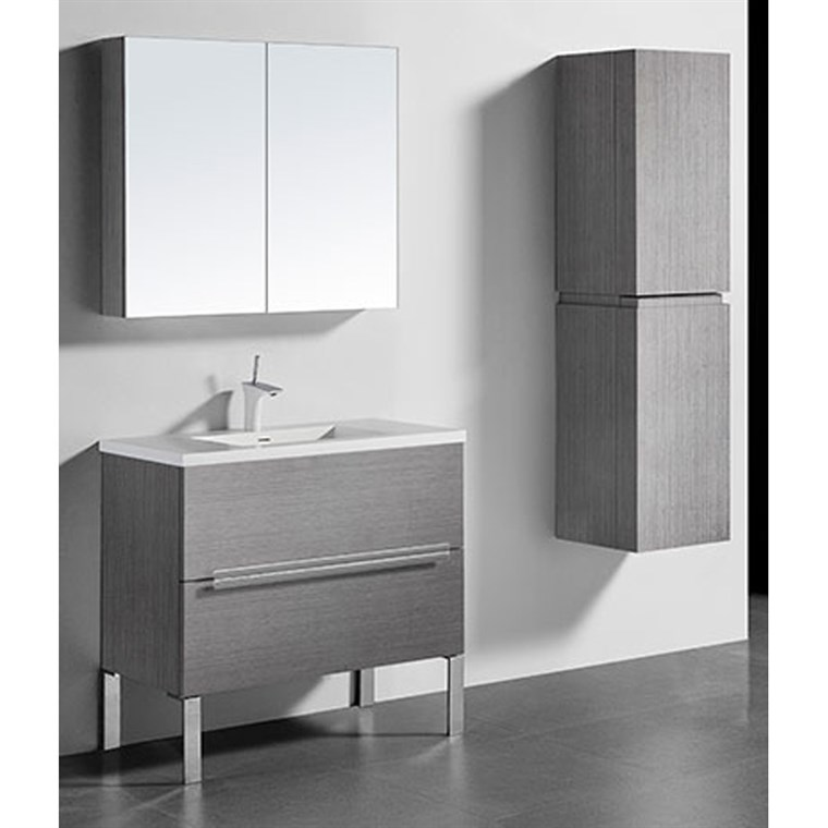 "Madeli Soho 36"" Bathroom Vanity for Integrated Basin - Ash Grey B400-36-001-AG"