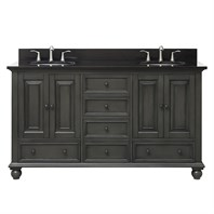 "Avanity Thompson 60"" Double Bathroom Vanity - Charcoal Glaze THOMPSON-60-CL"