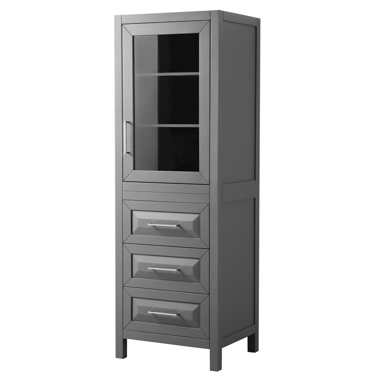 Daria Linen Tower by Wyndham Collection - Dark Gray WC-2525-LT-DKG