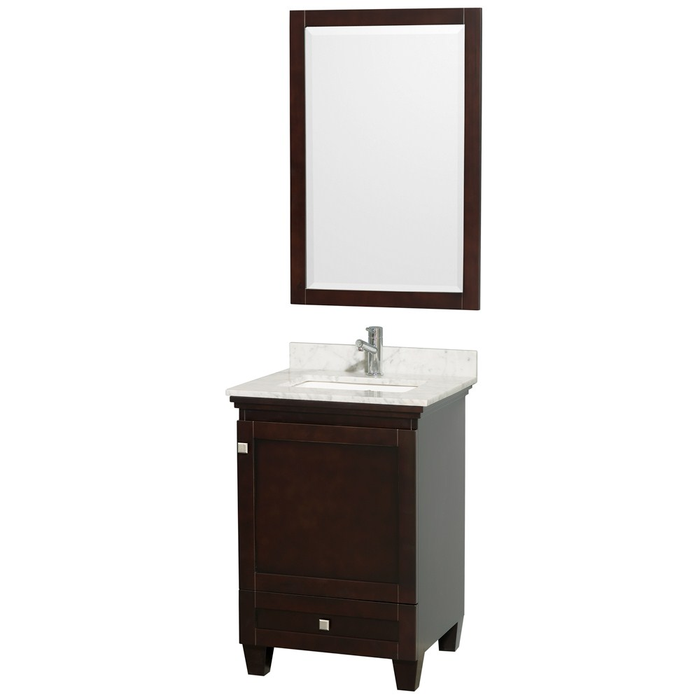 Acclaim 24 inch Single Bathroom Vanity by Wyndham Collection Espresso