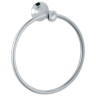 "Grohe Kensington 8"" Towel Ring - Swarovski Crystalnohtin Sale $200.99 SKU: GRO 40222VP0 :"