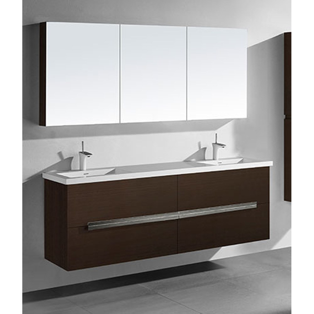 "Madeli Urban 72"" Double Bathroom Vanity for Integrated Basin - Walnut B300-72D-002-WA"