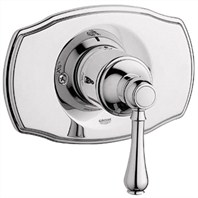 Grohe Geneva Pressure Balance Valve Trim with Lever Handle - Sterling Infinity Finish