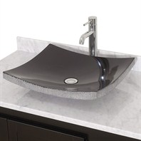 Altair Black Granite Vessel Sink