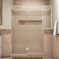 "DreamLine Unidoor-X 71"" to 72-1/2""W Hinged Shower Door with 24"" Buttress Panel D71BUTTRESS"