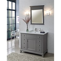 "Fairmont Designs 42"" Smithfield Vanity - Medium Gray 1504-V42"