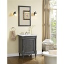 "Fairmont Designs Rustic Chic 24"" Vanity for Integrated Top - Silvered Oak 143-V24-"