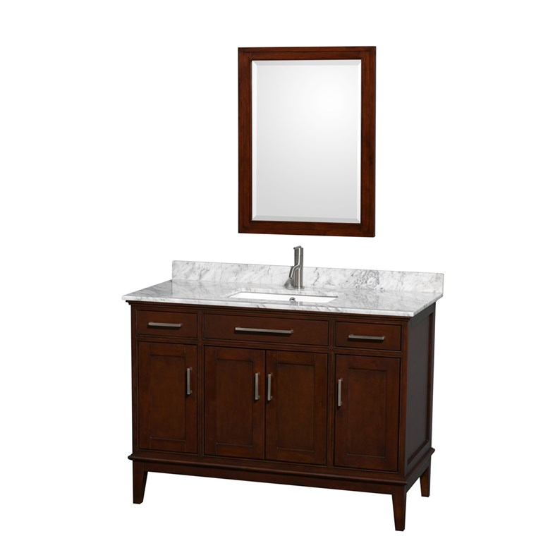"Hatton 48"" Single Bathroom Vanity by Wyndham Collection - Dark Chestnut WC-1616-48-SGL-VAN-CDK"